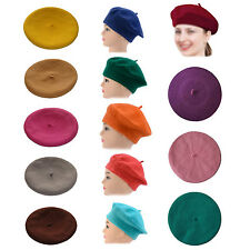 Vintage Women's Fashion Wool Warm Beret Beanie Hat Cap French Style Colorful WD