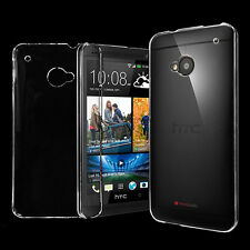 1 x Transparent Clear Crystal Hard Plastic Back Case Cover For HTC ONE M7 M8 M9
