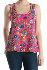 Women's Floral Print Strappy Sleeveless Crepe Top