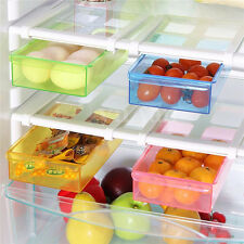 1 Set Slide Fridge Freezer Space Saver Organization Storage Rack Shelf Holder