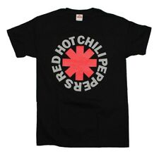 Red Hot Chili Peppers RHCP Asterisk Logo Rock Music Band Men's Black  T-Shirt