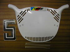 NOS LANDAR OLD SCHOOL BMX NO PLATE GENUINE NEW OLD STOCK MADE IN 80's WHITE