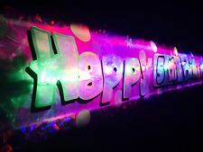 Flashing 1st 2nd 3rd 4th 5th 6  Birthday banner childs kids  Party decorations