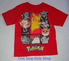 POKEMON Boys 4 5 6 7 Short Sleeve Tee SHIRT Top Pikachu