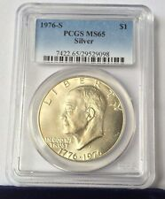 1976-S PCGS Graded MS 65 Silver Eisenhower Dollar  $1  Lot #5