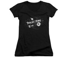 TWILIGHT ZONE ANOTHER DIMENSION Licensed Women's Junior V-Neck Tee Shirt SM-2XL