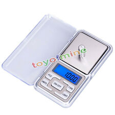 Pocket Digital Jewelry Scale Weight 500g x 0.1g 0.01g Balance Electronic Gram