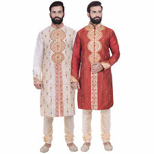 Ethnic Men's Indian Designer Kurta 2pc Suit