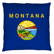 MONTANA FLAG DECORATIVE THROW PILLOW BEDROOM COUCH 2 SIDED