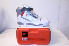 Nike Air Pressure Retro 2016 White Cement Grey Red DS New Size 10 Mag 831279-100