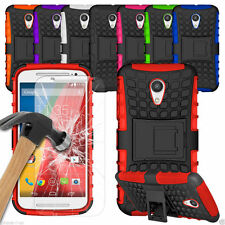 HEAVY DUTY TOUGH SHOCKPROOF HARD CASE COVER +TEMPERED GLASS FOR iPhone 5C