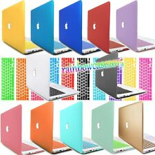"""Laptop Rubberized Hard Case For Macbook Pro 13""""15"""" Retina Air 11""""12"""" +KB Cover"""