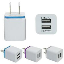 Home Travel Dual Port AC USB Wall Charger Adapter for iPhone Samsung Galaxy LG