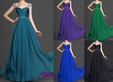 Long Chiffon Formal Prom Bridesmaid Dress Evening Party Cocktail Ball Gowns 6-18