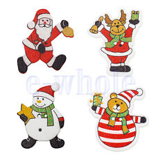 20 Santa Claus Snowman Shape 2 Holes Wood Buttons Sewing Scrapbooking New DT