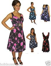 Ladies womans summer party best evening holiday dress plus size 12-26 UK floral