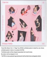 Twice Mini Album Vol. 2 - Page Two (PINK)+unfolded poster in tube+EXTRA