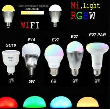 Mi light WIFI Wireless E27 GU10 E14 RGBW CW/WW Dimmable LED Lamp Bulb 4W-9W