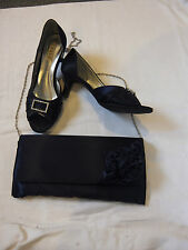 Mother of the bride Lexus shoe and handbag set. Navy blue, worn & used once