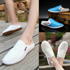 Summer Men's Slipper Leather Slip On Loafers Driving Moccasins Casual Shoes Z96
