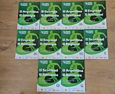 PoolB Rugby World Cup 2011 Programmes England Scotland Romania Argentina Georgia
