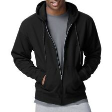 Hanes Men's ComfortBlend EcoSmart Fleece Full Zip Hood. Delivery is Free