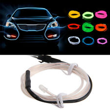 3M 9FT LED Flexible Neon EL Wire Glow Rope Tube Car Interior Decor Strip Light