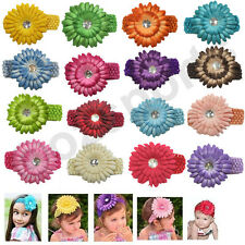 Clearance 1x Flower Crochet Headband Hair Band for Baby Toddler Girl Free Post