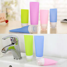 Reusable Silicone Tube Travel Packing Bottle Cosmetic Shampoo Container Portable