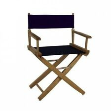 Extra-Wide Premium 46cm . American Oak Standard Height Directors Chair. Free Del