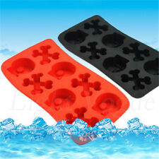 Silicone Tray Mould Ice Molds Mold Cube Bar Party Jelly Maker Skull 0063sf