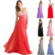 Stock Formal Prom Party Evening Ball Gown New Long Wedding Bridesmaid Dress 6-18
