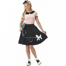 50's Hop With Poodle Skirt Women's Adult Halloween Costume. Huge Saving