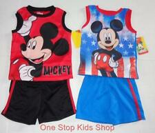 MICKEY MOUSE Toddler Boys 2T 3T 4T 5T Set OUTFIT Shirt Shorts Tank Top Disney