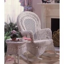 Country Wicker Rocking Chair - Indoor/Covered Porch. Free Delivery