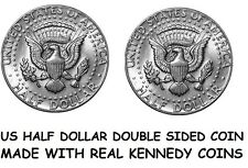 Double Sided KENNEDY HALF DOLLAR Double Headed Half Dollar - Two Tailed 50c Coin