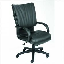 Boss Office Products High-Back Black Leather Plus Office Chair-Spring Tilt. Free