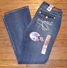 Wallflower Luscious Curvy Bootcut Jean Accent Back  Pockets Juniors DONNA Jeans