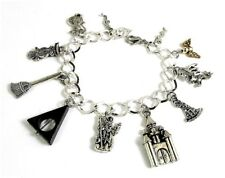 Magic Wizard Harry Potter Charm Bracelet Hogwarts School Wand Fly Broom Charms
