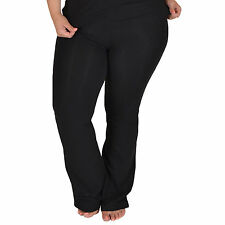 Women's PLUS SIZE Cotton Stretch Foldover YOGA PANTS For Maternity Gymnastics