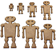 Robot / Droid Craft Shapes, Embellishments, Tags, Decoraions. 2mm MDF Wood