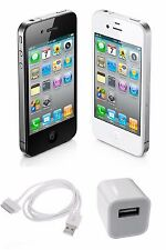 Apple iPhone 4 Unlocked, AT&T, T-Mobile Verizon Sprint 8GB 16 32 64 Black White