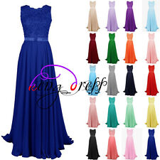 Stock Lace Formal Prom Party Cocktail Gown Evening Wedding Bridesmaid Dress 6-20