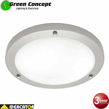 NEW Mercator Noosa 30w LED Silver Oyster Ceiling light Cool Warm White Dimmable