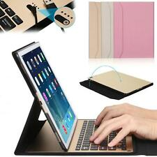 """Aluminum Bluetooth Keyboard W/PU Leather Case Stand Cover For iPad Pro 12.9""""9.7"""""""