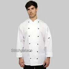 Le Chef Executive chefs jacket with black buttons long or short sleeve XXS-5XL