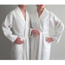 Authentic Hotel and Spa Turkish Cotton Unisex Waffle Weave Bath Robe. Shipping i