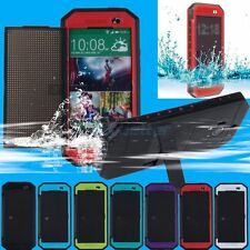 Colorful NEW Waterproof Water Shock Dust Proof Case Cover For HTC One M8