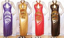 New Belly Dance Egyptian Baladi Saidi Galabeya Dancing Dress Costume S707