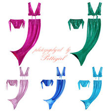 Mermaid Tail Kids Girls Bikini Bathing Set Beachwear Swimming Swimwear Costume